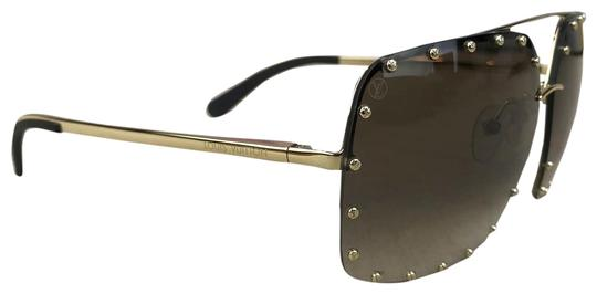 Preload https://img-static.tradesy.com/item/25965323/louis-vuitton-gold-the-party-stud-brown-gradient-half-rim-sunglasses-0-2-540-540.jpg