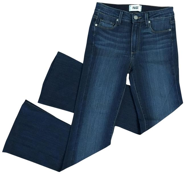 Item - Blue Dark Rinse High-rise Bell Canyon Flare Leg Jeans Size 00 (XXS, 24)
