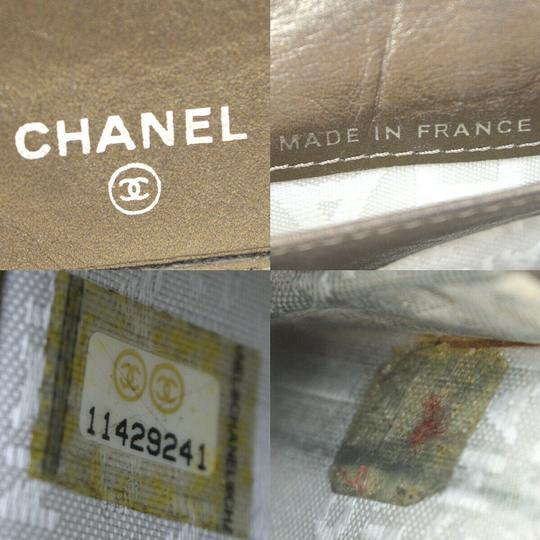 Chanel Authentic CHANEL CC Cambon Long Bifold Wallet Purse Leather Gold Franc Image 11