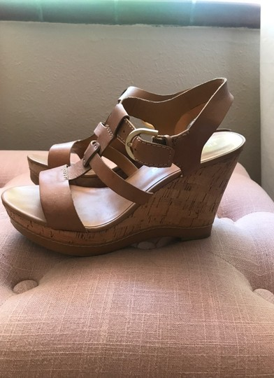Franco Sarto Tan Wedges Image 1