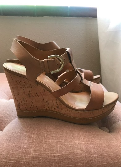 Franco Sarto Tan Wedges Image 3