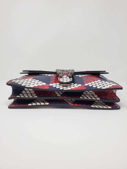 Gucci Python Multicolor Satchel in Red Blue White Image 2