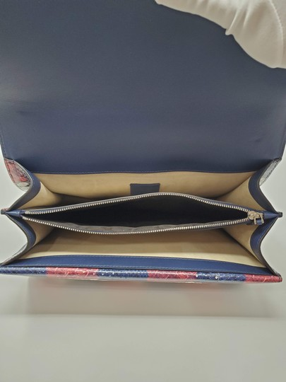 Gucci Python Multicolor Satchel in Red Blue White Image 4