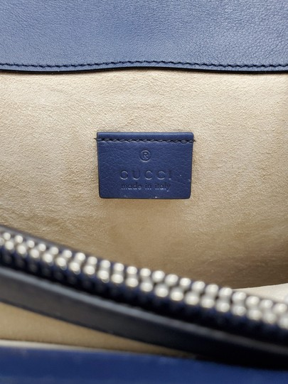 Gucci Python Multicolor Satchel in Red Blue White Image 9