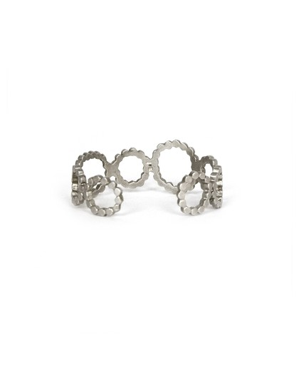 Saundra Messinger Saundra Messinger Sterling Silver Open Circles Cuff w/ Diamonds Image 2