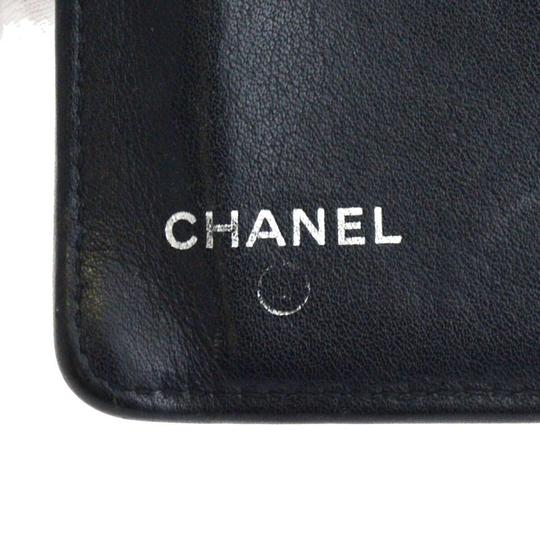 Chanel Authentic CHANEL CC Logo Long Bifold Wallet Purse Caviar Leather Black Image 7
