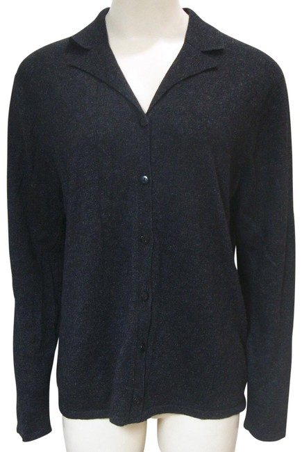 Preload https://img-static.tradesy.com/item/25965470/august-silk-cashmere-cardigan-button-front-gray-sweater-0-2-650-650.jpg