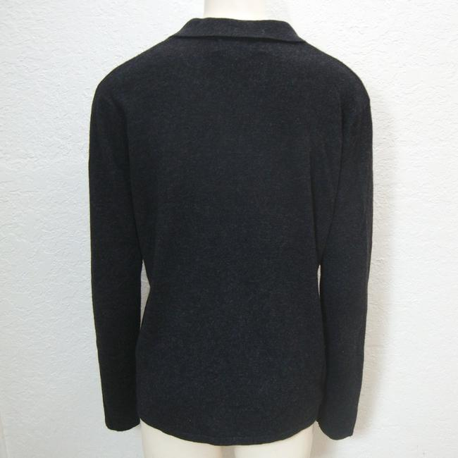 August Silk Cashmere Cardigan Long Sleeve Button Sweater Image 1