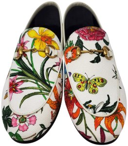Gucci Loafers Flowers White multicolor Mules