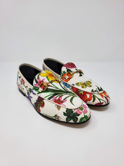 Gucci Loafers Flowers White multicolor Mules Image 1