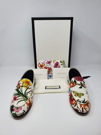 Gucci Loafers Flowers White multicolor Mules Image 2
