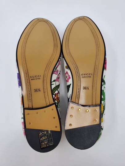 Gucci Loafers Flowers White multicolor Mules Image 6