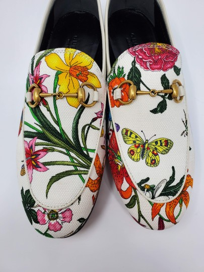 Gucci Loafers Flowers White multicolor Mules Image 8