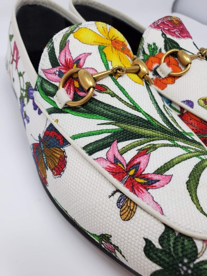 Gucci Loafers Flowers White multicolor Mules Image 9