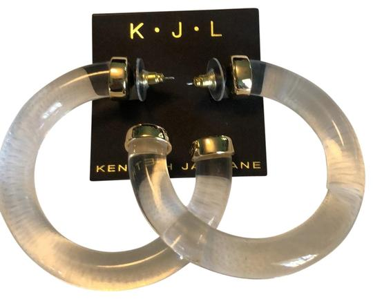 Preload https://img-static.tradesy.com/item/25965480/kenneth-jay-lane-clear-acrylic-and-gold-lightweight-tube-earrings-0-2-540-540.jpg