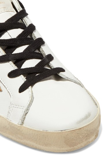 Golden Goose Deluxe Brand Ggdb Superstar Sneaker Leopard, Gold and White Athletic Image 2