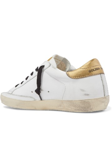 Golden Goose Deluxe Brand Ggdb Superstar Sneaker Leopard, Gold and White Athletic Image 1