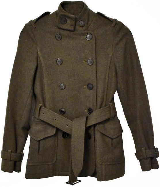 Item - Army Green Double Breasted Jacket Size 2 (XS)