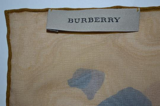 Burberry NEW ANIMAL-PRINT SILK GEORGETTE XL Amber Yellow SCARF WRAP Italy Image 4
