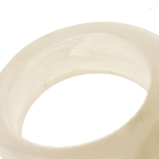 Chanel Authentic CHANEL CC Logo Camellia Ring Plastic Ivory Accessory Image 5