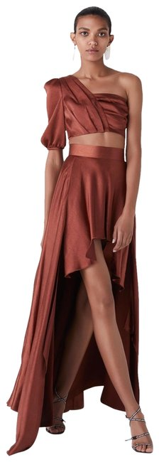 Item - Rust (Brown) Two Piece Long Formal Dress Size 8 (M)