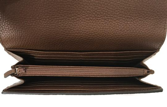 Gucci NEW GUCCI 400586 GG Marmont Leather Wallet, Brown Image 3