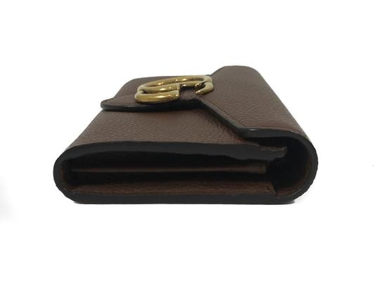 Gucci NEW GUCCI 400586 GG Marmont Leather Wallet, Brown Image 4
