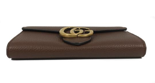 Gucci NEW GUCCI 400586 GG Marmont Leather Wallet, Brown Image 5