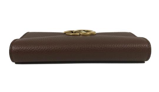 Gucci NEW GUCCI 400586 GG Marmont Leather Wallet, Brown Image 6