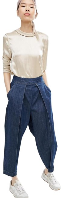 Preload https://img-static.tradesy.com/item/25965568/asos-blue-medium-wash-with-front-pleat-trouserwide-leg-jeans-size-34-12-l-0-2-650-650.jpg