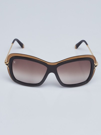 Louis Vuitton Brown acetate Louis Vuitton Poppy LV logo sunglasses Image 2