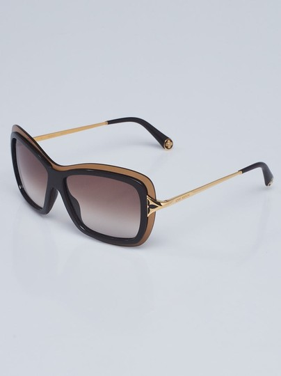 Louis Vuitton Brown acetate Louis Vuitton Poppy LV logo sunglasses Image 5