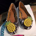 Tory Burch Brown/white Flats Image 1