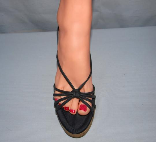Fioni Sexy Sexy Wedges Wedges Cork Wedges Black Sandals Image 1