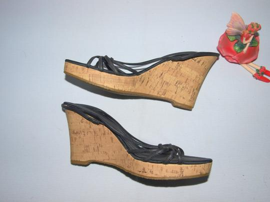 Fioni Sexy Sexy Wedges Wedges Cork Wedges Black Sandals Image 2