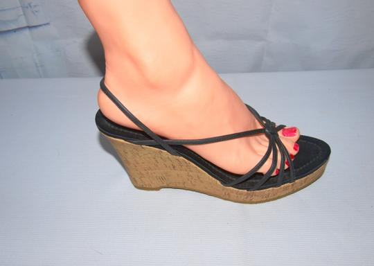 Fioni Sexy Sexy Wedges Wedges Cork Wedges Black Sandals Image 4