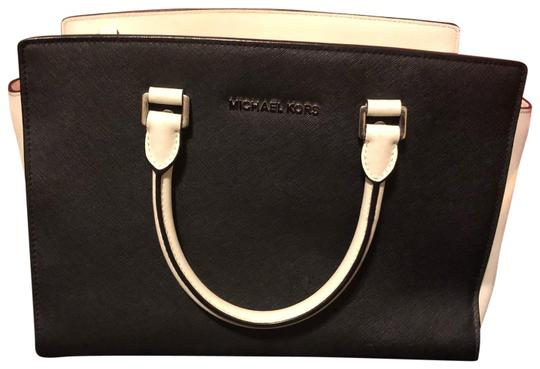 MICHAEL Michael Kors Satchel in black and white Image 0