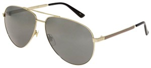 Gucci WEB 0137 Gold Aviator Metal Silver Mirrored GG0137S Unisex 2281