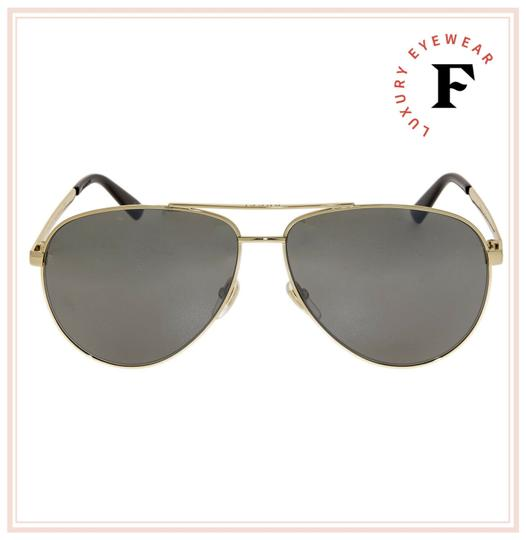 Gucci WEB 0137 Gold Aviator Metal Silver Mirrored GG0137S Unisex 2281 Image 3