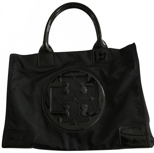 Preload https://item5.tradesy.com/images/tory-burch-shopping-ella-handbag-black-nylonpatent-leather-tote-25965744-0-2.jpg?width=440&height=440