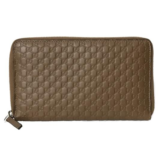 Gucci NEW GUCCI XL Leather Microguccissima Zip around Wallet Image 1