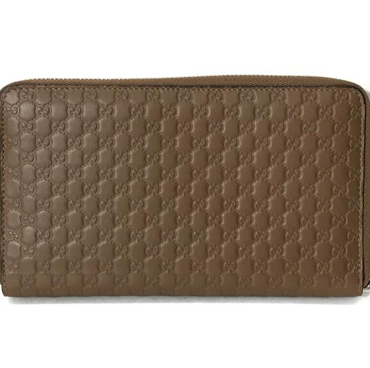 Gucci NEW GUCCI XL Leather Microguccissima Zip around Wallet Image 2