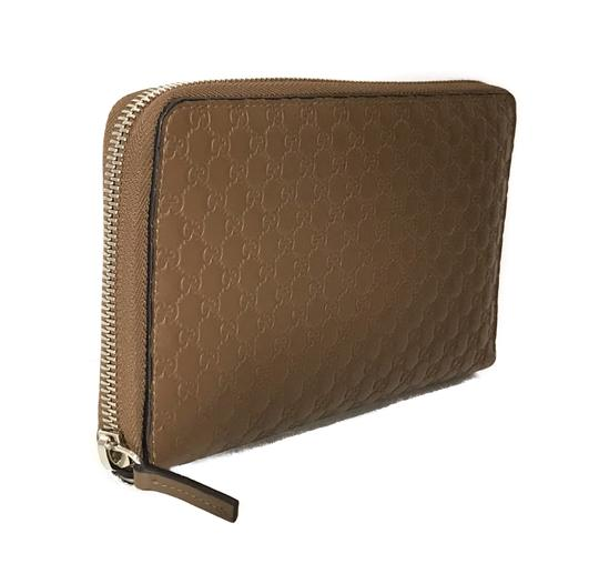 Gucci NEW GUCCI XL Leather Microguccissima Zip around Wallet Image 4