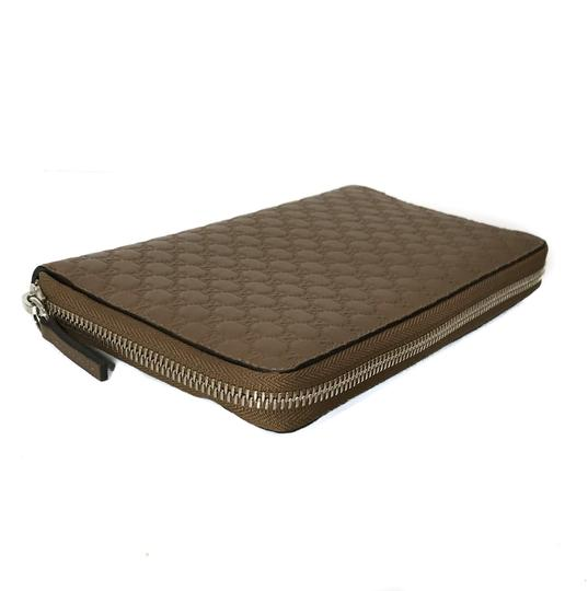 Gucci NEW GUCCI XL Leather Microguccissima Zip around Wallet Image 5