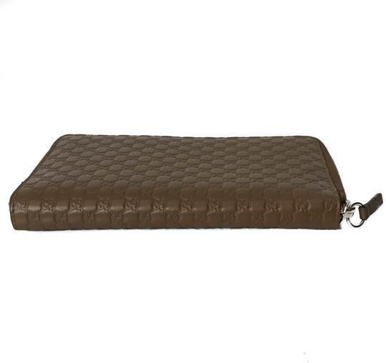 Gucci NEW GUCCI XL Leather Microguccissima Zip around Wallet Image 7