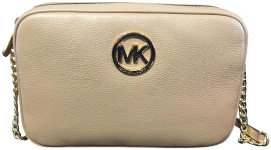Michael Kors Leather Gold Hardware Cross Body Bag Image 0