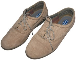 Dr. Scholl's Suede Walking Comfort Comfy Leather Gray Athletic