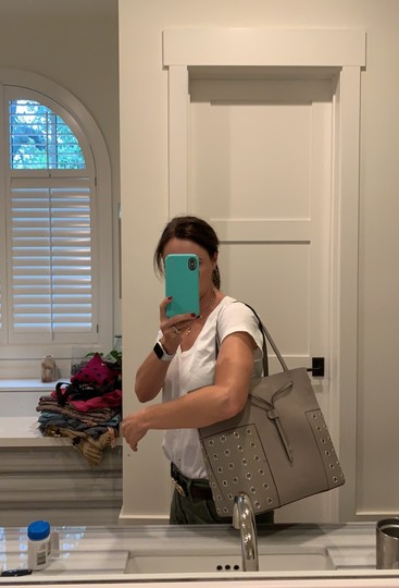 Tory Burch Tote in French Gray Image 11