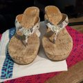 Tory Burch Snakeskin Wedges Image 1