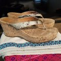 Tory Burch Snakeskin Wedges Image 2